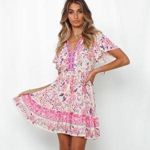 Hello Molly Avignon dress pink